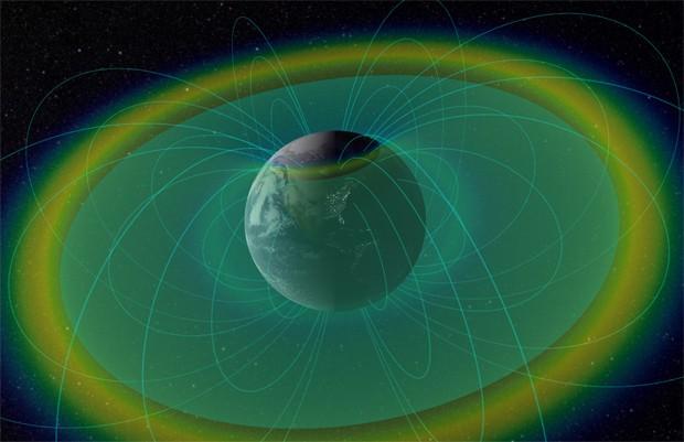 satelites compo de forca protegem terra Satélites detectam campo de força invisível que protege a Terra