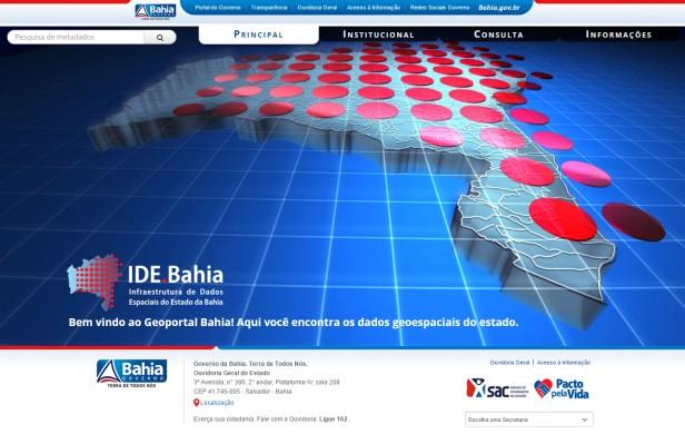 Geoportal Bahia Geoportal Bahia é lançado com dados geoespaciais do estado