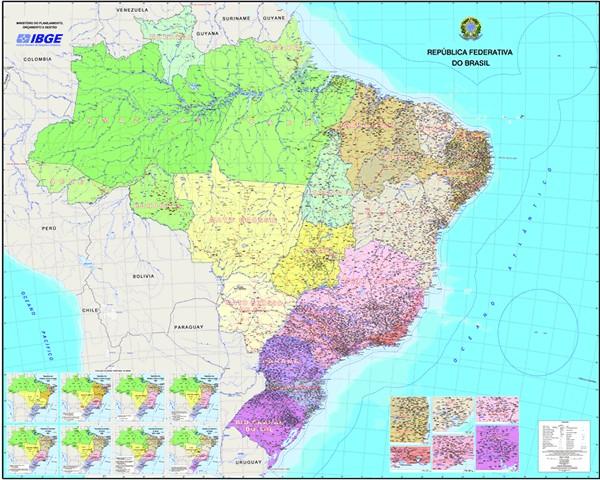 Ibge Lanca Novo Mapa Politico Do Brasil Mundogeo