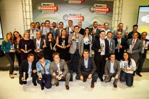 Ganhadores da edição 2014 do Prêmio MundoGEO#Connect