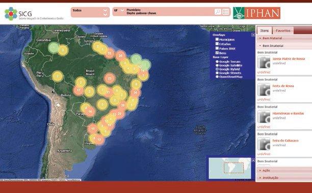 Visualizador geral do bem Geotecnologias livres no setor público