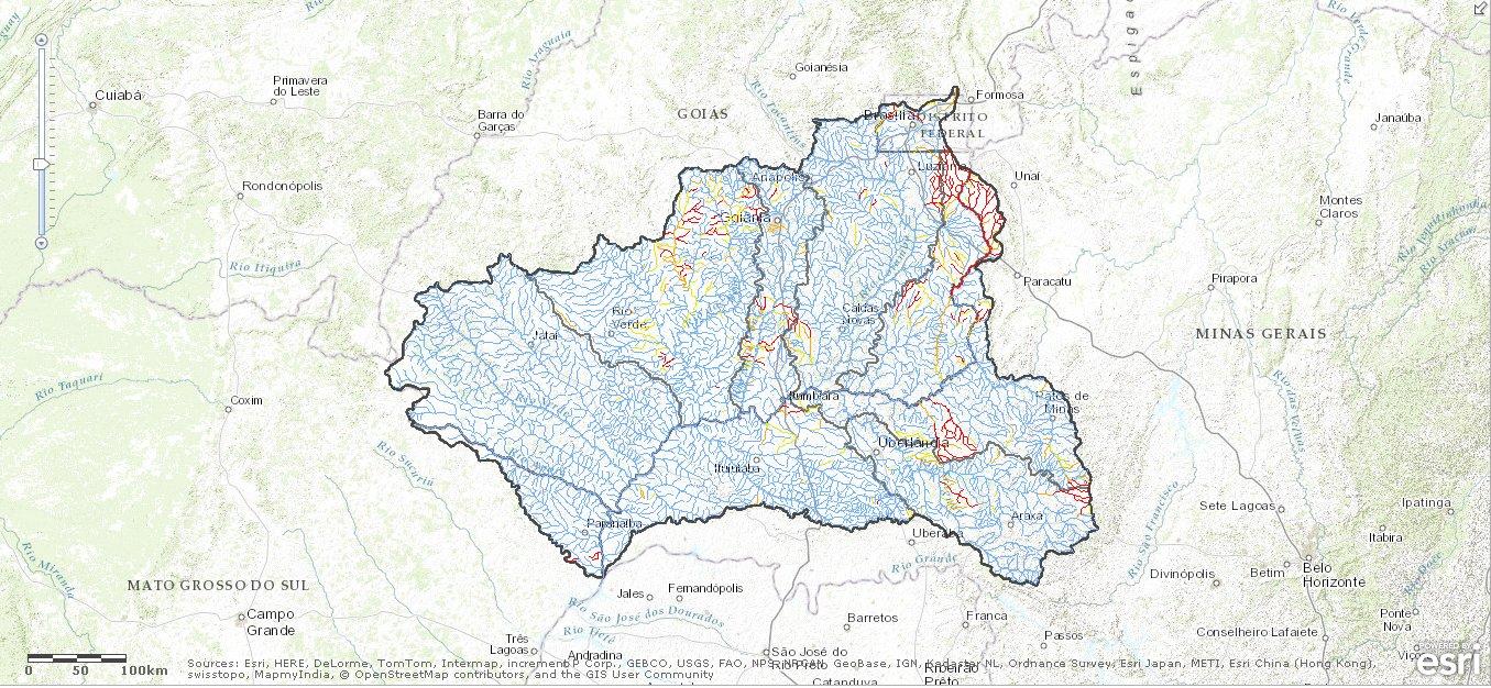 Mapa interativo ANA Agência disponibiliza mapas interativos da bacia do rio Paranaíba
