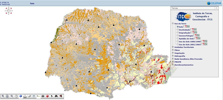 ITCG1 Portal do ITCG divulga dados geográficos do Paraná