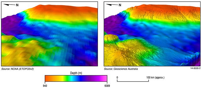 MH370 factsheet1 figure 11 Pesquisa realizada na busca pelo avião MH370 auxilia na compreensão do relevo oceânico