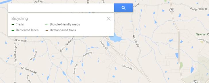 nexus2cee current google maps web interface bicycling 728x290 Google Maps testa nova interface
