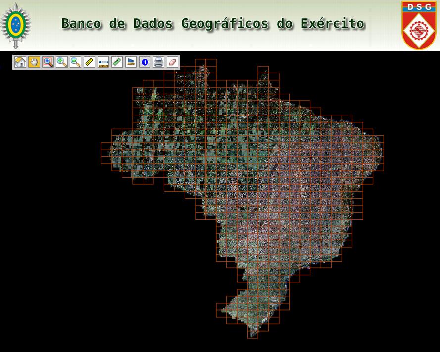 Banco De Dados Geográficos Do Exército Disponibiliza