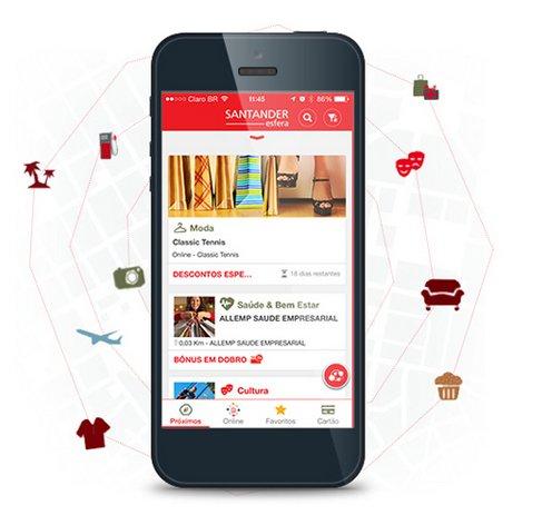 Santander esfera Santander Esfera lança aplicativo com geolocalização
