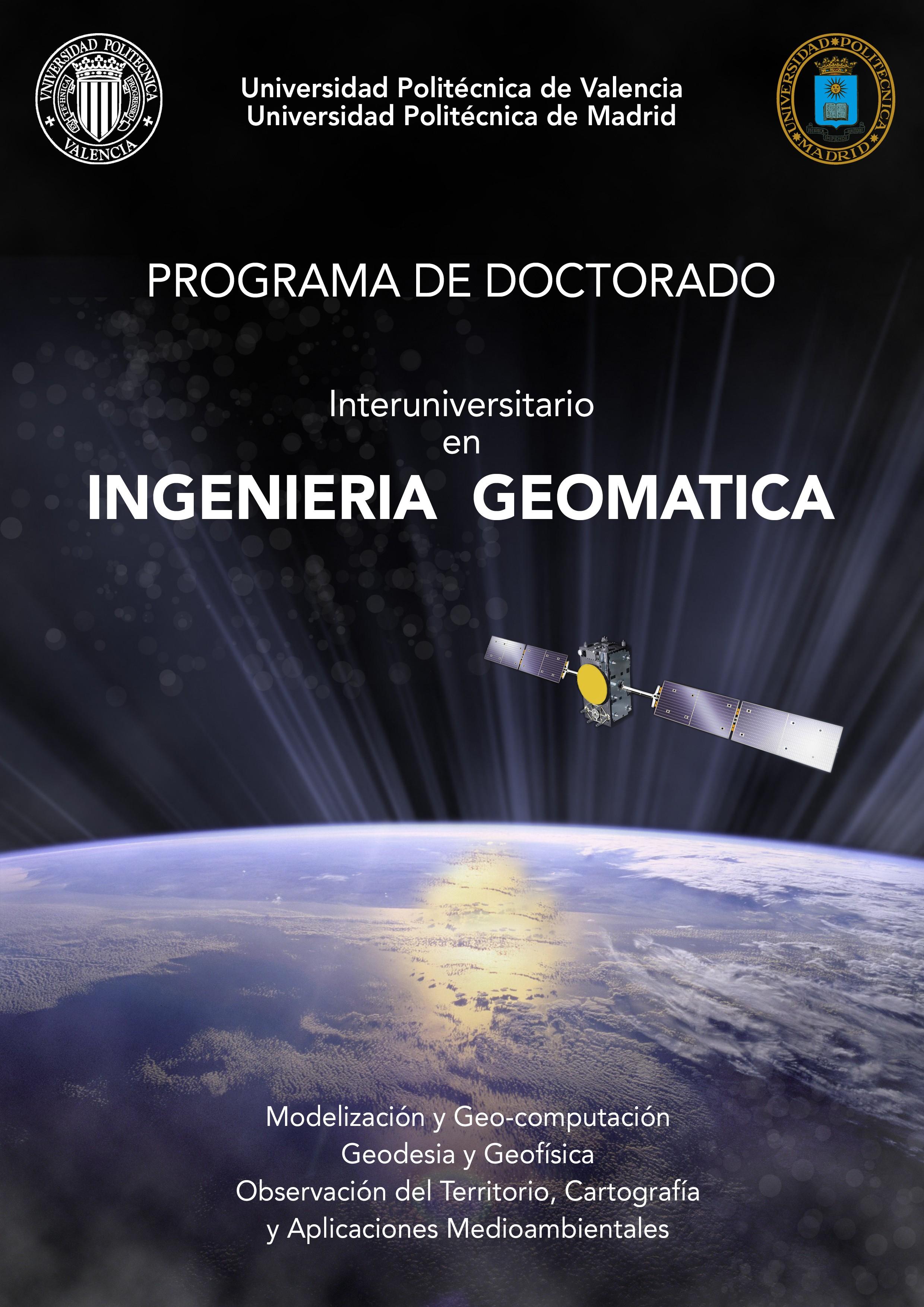 doctorado geomatica Universidades de España anuncian el Programa de Doctorado en Ingeniería Geomática