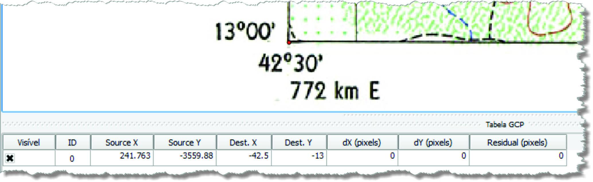 insercao e tabela Decifrando o georreferenciamento de carta topográfica no QGIS