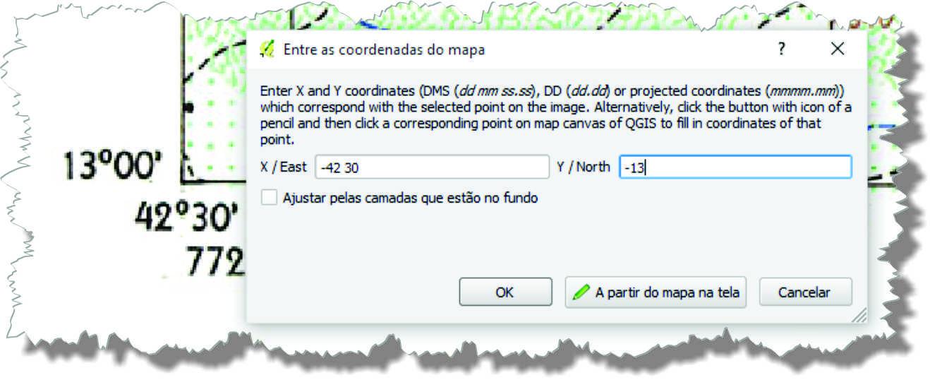 insercvao de coordenadas Decifrando o georreferenciamento de carta topográfica no QGIS