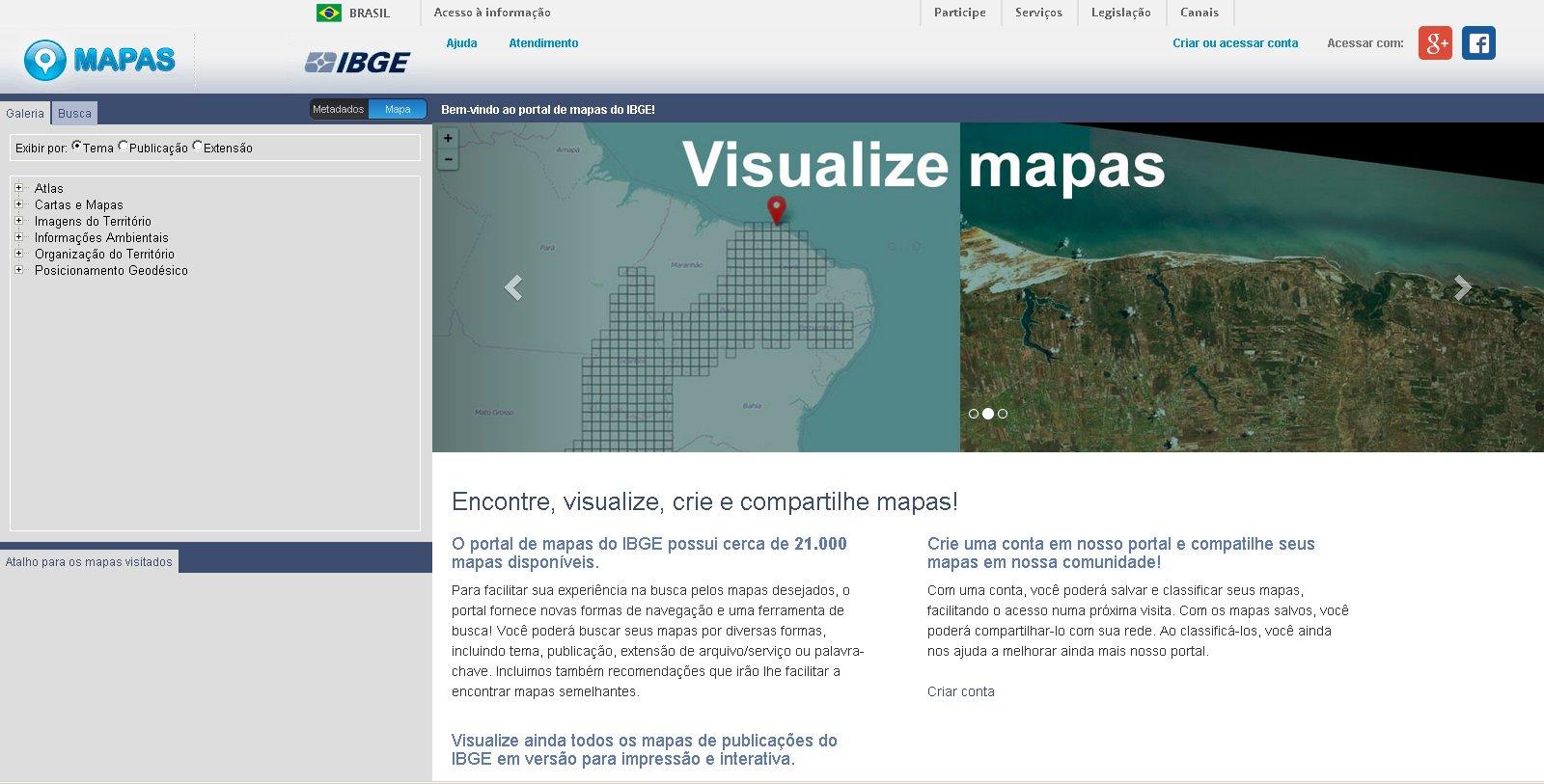 Portal de mapas IBGE IBGE lança portal de mapas