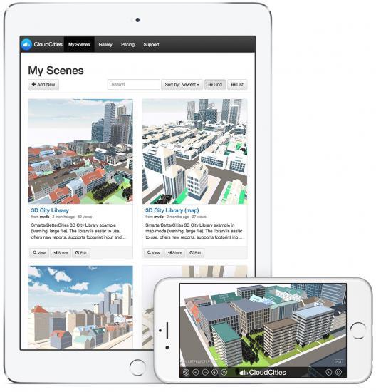 cloudcities1 Lançado o aplicativo CloudCities que permite explorar modelos 3D da cidade