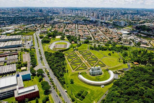 Foto aérea de Curitiba/Flickr