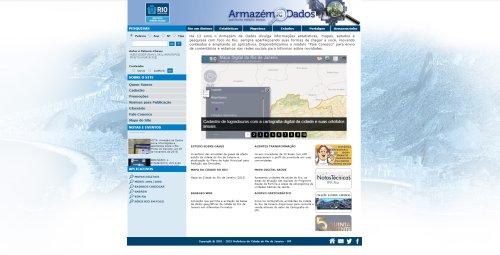 Captura tela Armazém de Dados Prefeitura do Rio abre seleção para modernizar o Armazém de Dados