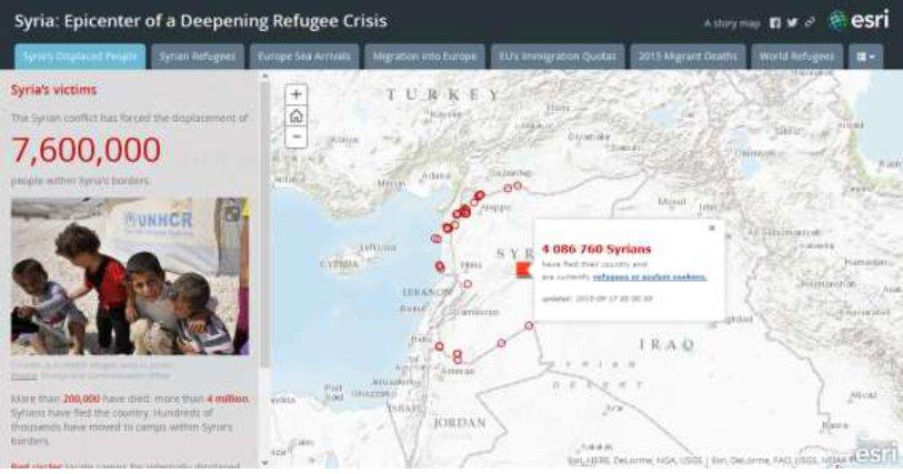 esri portugal 2 A crise de refugiados explicada em mapa