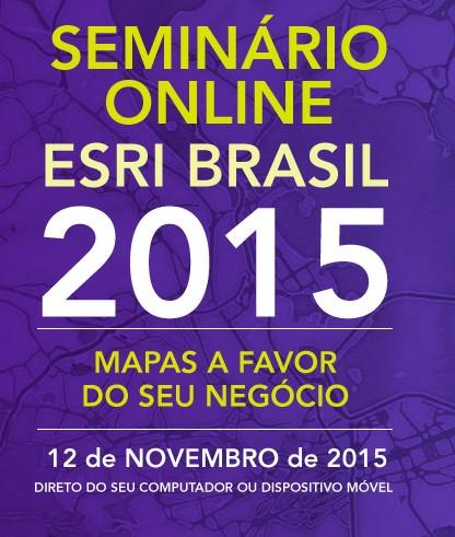 iMAGEM esri evento 1° Seminário Online Esri Brasil acontece amanhã!