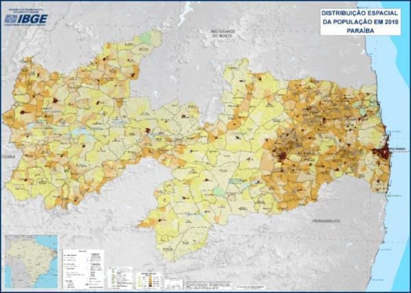 IBGE divulga mapas estaduais de Densidade Demográfica 600x428 IBGE divulga mapas estaduais de Densidade Demográfica