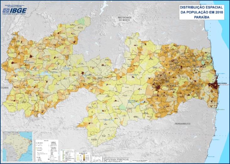 IBGE divulga mapas estaduais de Densidade Demográfica