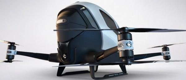Drone capaz de transportar pessoas 600x257 O que se pode fazer com os drones? DroneShow busca ideias inovadoras!