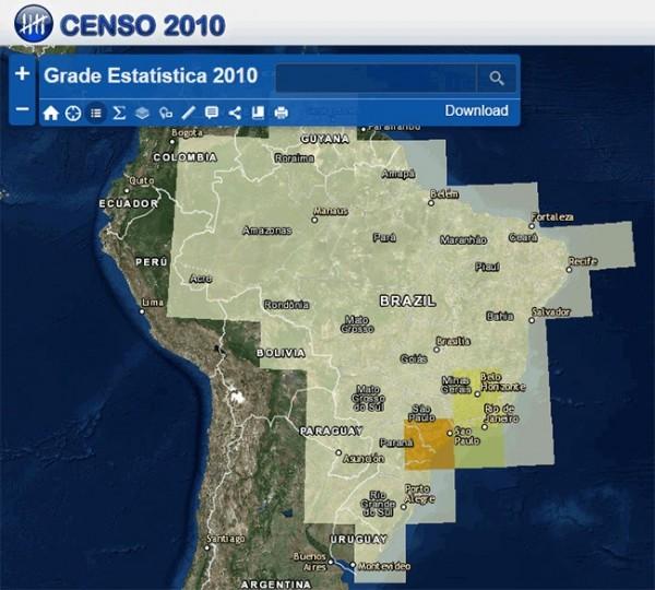 IBGE divulga a Grade Estatística e Atlas Digital Brasil 1 por 1 600x540 IBGE divulga a Grade Estatística e Atlas Digital Brasil 1 por 1