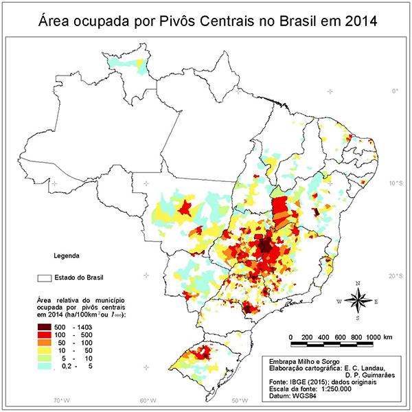 01 Pivos IBGE Brasil está entre os países com maior área irrigada do mundo