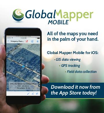 heihaiu Disponível o aplicativo Global Mapper Mobile para usuários de iOS