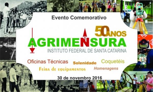 banner5 600x360 Comemoração: 50 anos do curso Técnico de Agrimensura IFSC