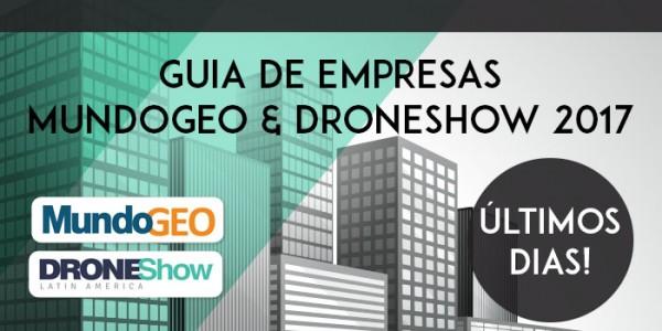 700 3501 600x300 Últimos dias para entrar no Guia de Empresas MundoGEO e DroneShow 2017