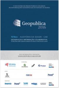 Cartaz Web Geopublica2016 201x300 Encontro de produtores e usuários de informações geoespaciais acontece na Bahia