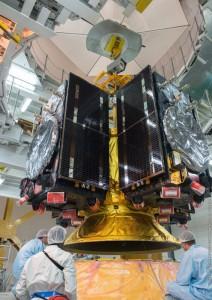 Galileos meet Ariane 5 node full image 2 212x300 Foguete coloca em órbita quatro satélites de navegação do sistema Galileo