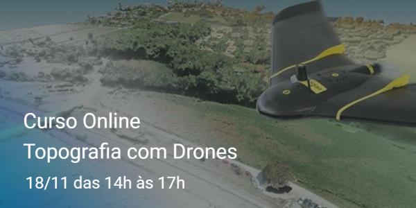 curso online topografia com drones 600x300 Curso online sobre Topografia com Drones acontece nessa sexta