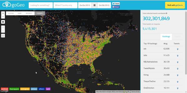 twittermap Empresa brasileira goGeo fatura R$ 1 mi com oferta de Big Data Geoespacial