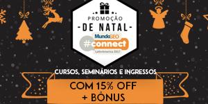 300 150 Promoção de Natal: atividades do MundoGEO#Connect com desconto e bônus!