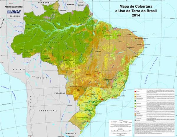 IBGE lança novo Mapa de Cobertura e Uso da Terra do Brasil 600x467 IBGE lança novo Mapa de Cobertura e Uso da Terra do Brasil
