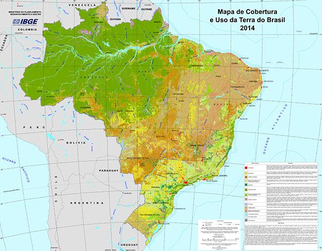 Ibge lan a novo mapa de cobertura e uso da terra do brasil mundogeo - Fotos terras ...