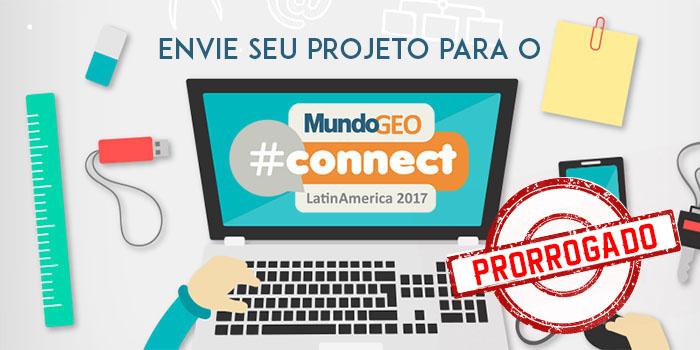 projeto mgeocon700 350  prorrogado Últimos dias para envio de trabalhos aos seminários do MundoGEO#Connect 2017