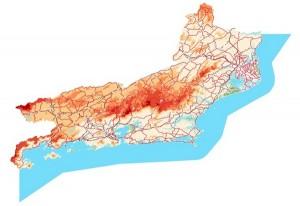 base continua do estado do rio de janeiro 300x206 IBGE lança base cartográfica vetorial contínua do Rio de Janeiro