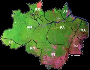 mapa terraclass 2010 300x233 Inpe oferece capacitação em Belém sobre monitoramento de florestas