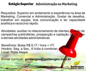 Estágio ADM MKT novo 300x250 Vagas: Goldengeo abre oportunidade para profissional de administração ou marketing