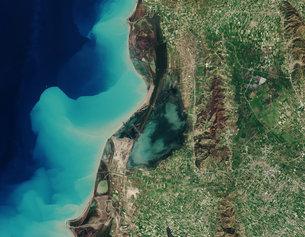 Karavasta Lagoon Albania medium Satélite recém lançado Sentinel 2B entrega suas primeiras imagens. Confira!