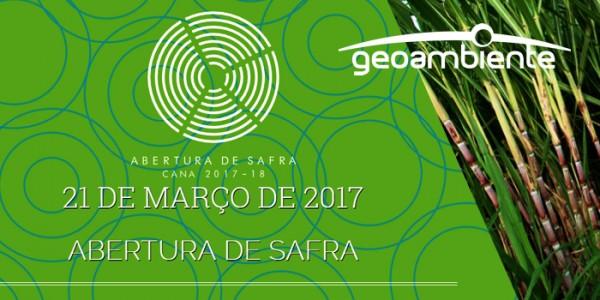 aberturacana 600x300 Geoambiente participará do evento Abertura de Safra de Cana 2017/2018