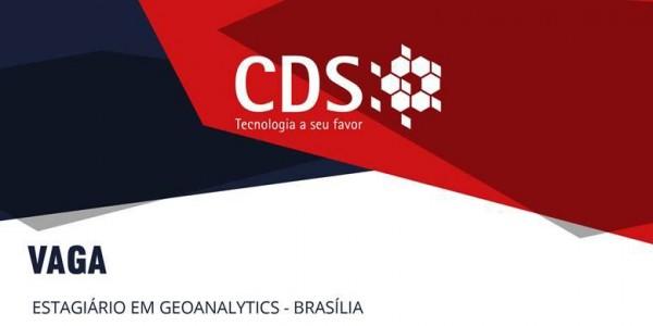 DIVULGAÇÃO DE V 600x300 Oportunidade: CDS abre vaga de estágio em geoanalytics em Brasília