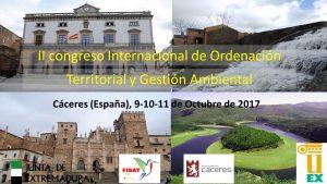 Cartel F 300x169 Congreso Internacional de Ordenación Territorial y Gestión Ambiental se realizará en octubre