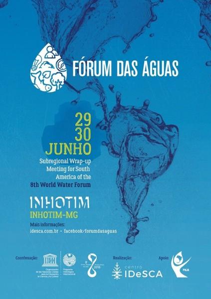 Folder Fórum das Águas 423x600 Fórum das Águas será realizado no Inhotim. Veja como participar