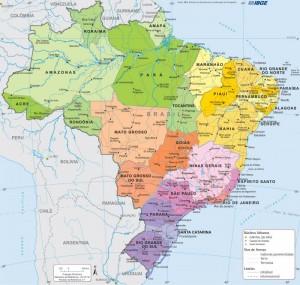 brasil politico 300x285 IBGE divulga as áreas territoriais atualizadas de estados e municípios brasileiros