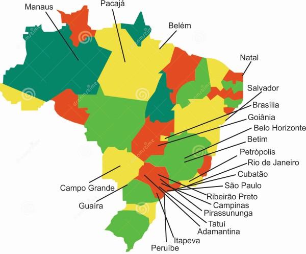 Mapa dos alunos Albatroz Brasil Drones cria Rede de Profissionais
