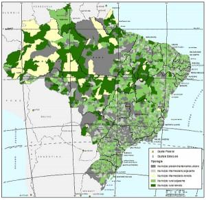 Mapa05 1 300x292 Nova proposta de classificação territorial mostra um Brasil menos urbano