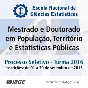 11902515 1157268690966645 3742287877342467564 n 300x300 Escola de Ciências Estatísticas do IBGE abre inscrição para mestrado e doutorado