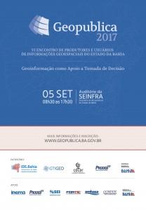 email mkt geopublica 2017 208x300 Participe do evento Geopublica sobre Geoinformação na tomada de decisão