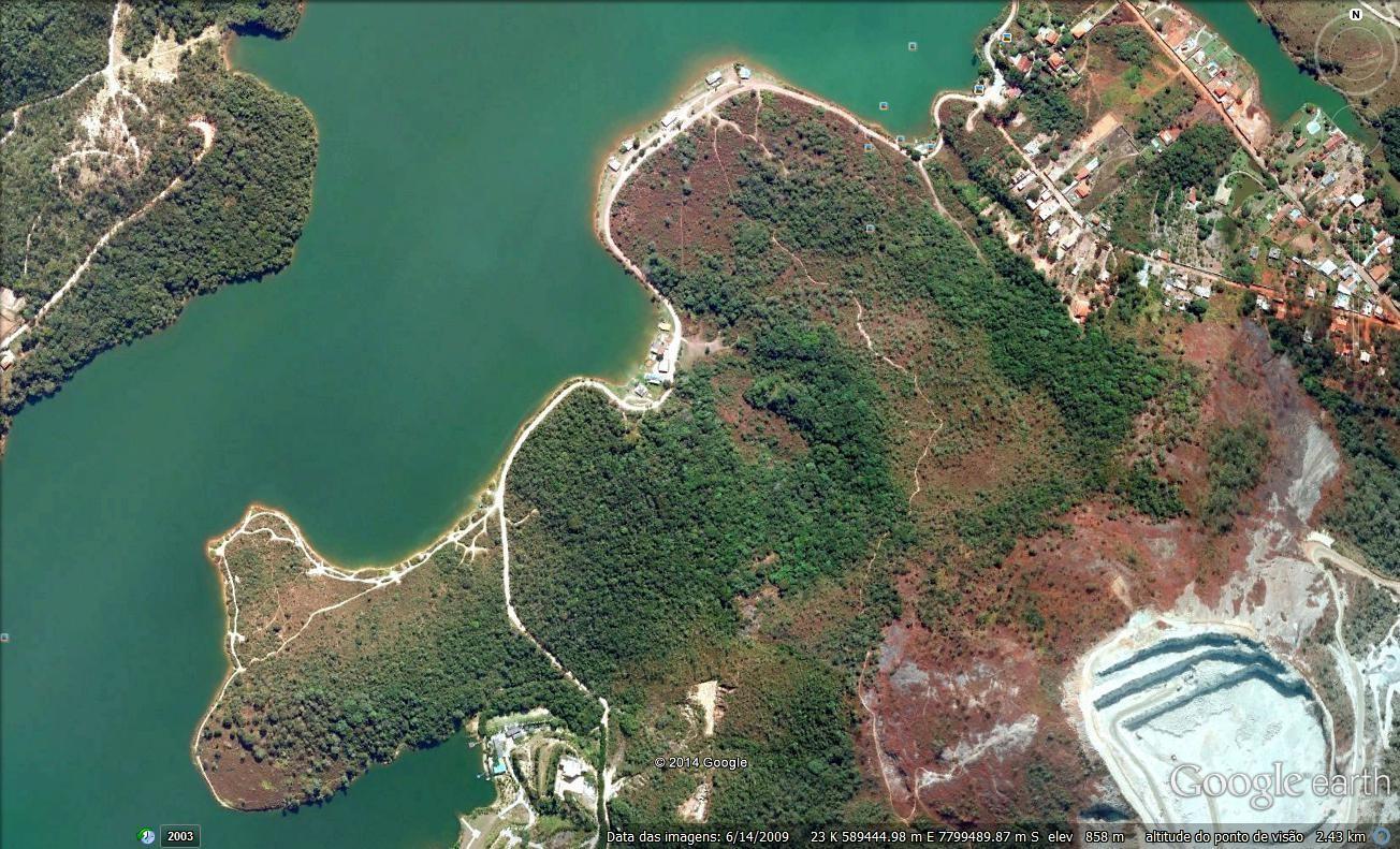 Figura 3 – Imagem aérea, sem perímetro, da Fazenda Bela Vista. Contagem/MG. Fonte: Google Earth